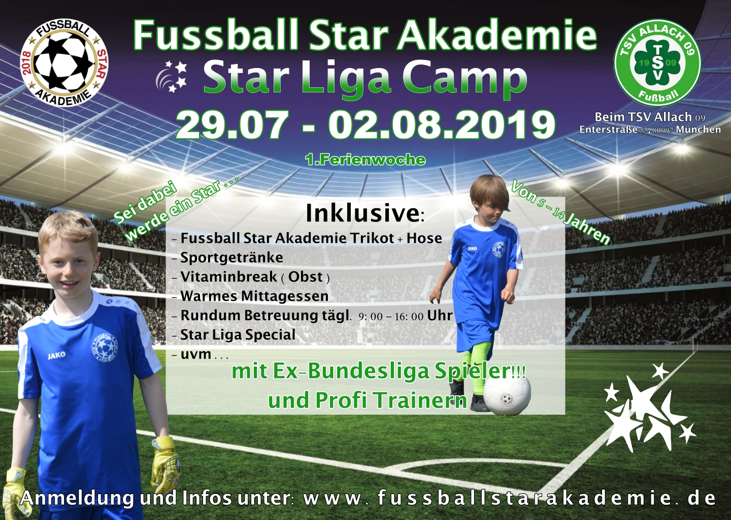 Star Liga Camp – TSV Allach 29.07.2019